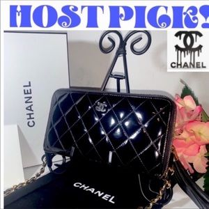 CHANEL Vintage Matalesse Wallet on Chain Crossbody